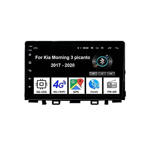 Autoradio Android Stereo 9 Pollici Touch Screen Multimediale Navigatore GPS per Kia Morning 3 picanto 2017-2020 Collega E USA Mirror Link Bluetooth Vivavoce Controllo del Volante