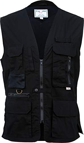 Foxfire Thunder River Gear Ultimate Travel Hiking Safari Photo Vest (X-Large, Tactical Black)