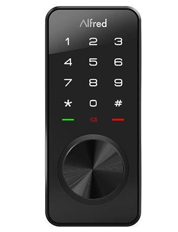 Alfred Touchscreen Keypad Pin + Bluetooth + Z-Wave + Key Entry (DB1-B-BL) Smart Door Lock