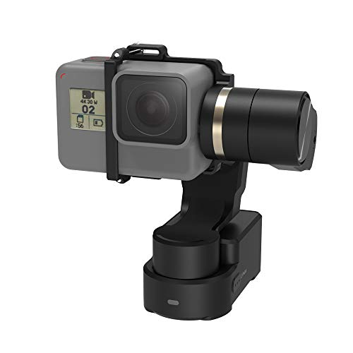 FeiyuTech WG2X with Mini Tripod 3-Axis Wearable Gimbal Splash-Proof Stabilizer for Gopro Hero7/6/5 Session Xiaomi Yi 4K SJCAM Action Camera (WG2X with Extension Rod)