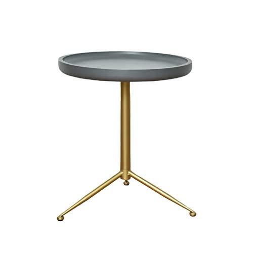 HYAN Mesa de café Redonda nórdica Mesa de Metal Mesa de Extremo Moderno Sala de Estar pequeño Tabla Lateral pequeña Sofá mesas de Noche Tablas de Acento para Espacios pequeños