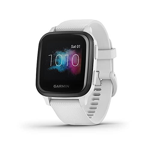 Garmin Venu Sq Music, Reloj Inteligente con GPS, Blanco/Gris, Amazon Edición Especial