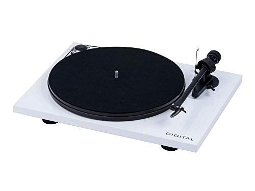 "Pro Ject Essential III Digital, Audiophiler ""Best Buy"" Plattenspieler mit optischem Ausgang (Weiß)"