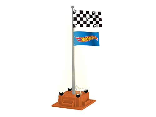 Lionel 685270 Hot Wheels Checkered Flagpole, O Gauge, Orange, Blue, Yellow, Red, Gray, black, White