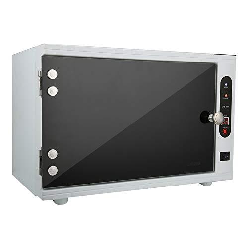 yuyte Gabinete de Esterilizador Estetica UV, Caja de Desinfección de Gran Capacidad, Equipo de Esterilización de Salud para Salones de Belleza para Toallas y Tijeras Calientes (2 en 1 UV+Calefacción)