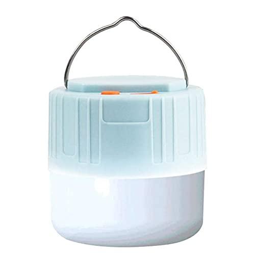 Lubudup Lámpara LED de camping, recargable por USB, imán fuerte integrado con batería externa de 4400 mAh, PX6, resistente al agua, para exteriores, senderismo, camping