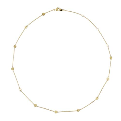 HONEYCAT Milky Way Disc Chain Necklace in Gold, Rose Gold, or Silver   Minimalist, Delicate Jewelry (Gold)