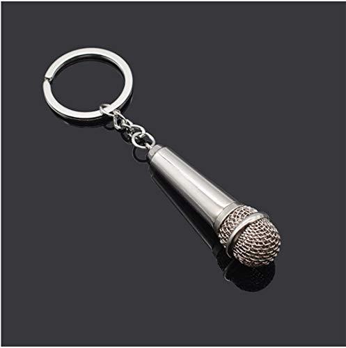 Mikrofon DJ Schlüsselanhänger Metall 6cm | Discjockey | Musik | Techno | Singen | Geschenk