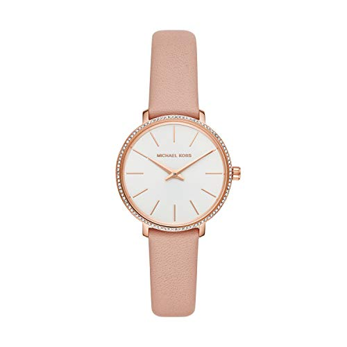 Michael Kors Damen Analog Quarz Uhr mit Leder Armband MK2803