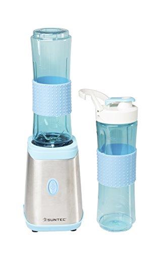 SUNTEC Smoothie Maker SMO-9936 | Edelstahl Smoothiemaker 600ml Trinkflasche To Go/für Obst-Smoothies | Shaker Spülmaschinenfeste Flasche BPA-Frei Mixer Elektrisch 350 Watt