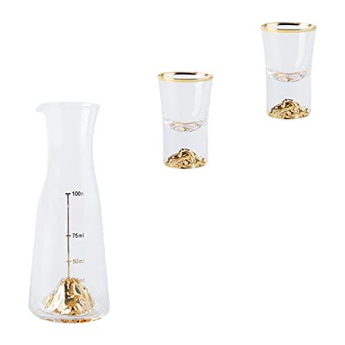 WINOMO Copa de vino pequeña taza de vino, 1 juego de taza de vino, recipiente de licor para bebidas, bourbon, licor y cócteles (transparente)