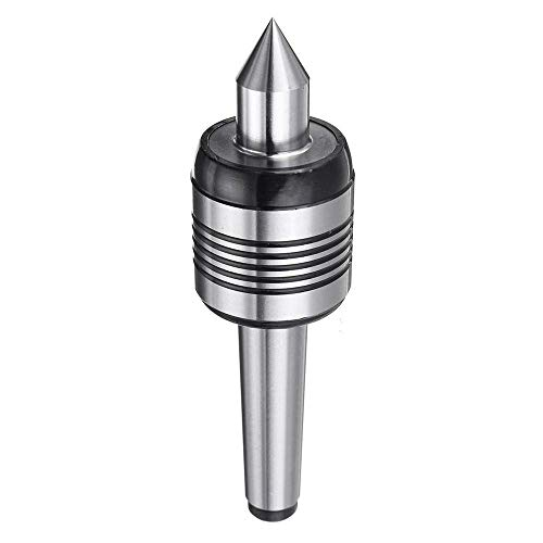 Best Prices! ZGQA-GQA 0.02 Inch MT2 Accuracy Steel Lathe Live Center Taper Tool Triple Bearing Lathe...