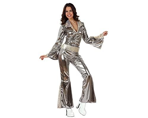 Oferta de Atosa Disfraz Disco Plateado Mujer Adulto M