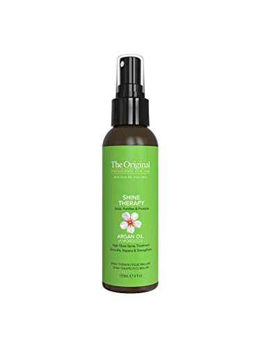 DermOrganic Shine Spray Therapy for Hair with Argan Oil - Smooths, Repairs, Strengthens, 4 fl.oz.