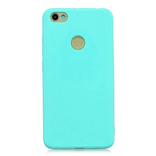 cuzz Funda para Xiaomi Redmi Note 5A+{Protector de Pantalla de Vidrio Templado} Carcasa Silicona Suave Gel Rasguño y Resistente Teléfono Móvil Cover-Azul Claro