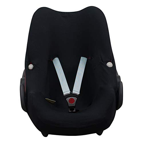 Janabebé Housse compatible avec Maxi Cosi, Bebe Confort Pebble (Black Series)