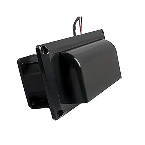 Side Air Vent Ventilation Air Fan for RV Motorhome Caravan Trailer - Black 25W