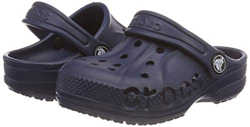 Crocs Baya Clog Kids, unisex-child Baya Clog Comfortable Slip On Water Shoe, Blue (Navy 410), C12 UK (29-30 EU)