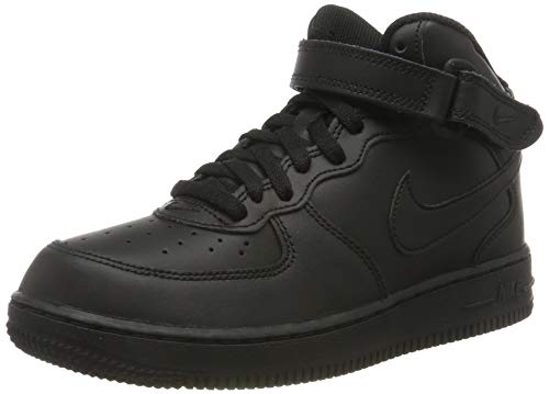 Nike Force 1 Mid (PS), Zapatillas de Baloncesto, Negro, 28 EU