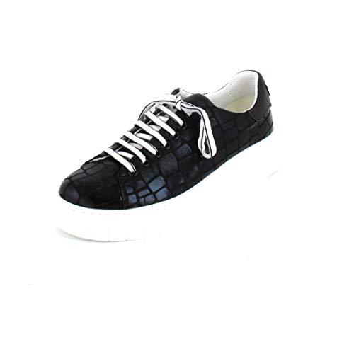 Tosca Blu Studio - Zapatillas deportivas de bolas negras con estampado de coco, art. ámbar Negro Size: 41 EU