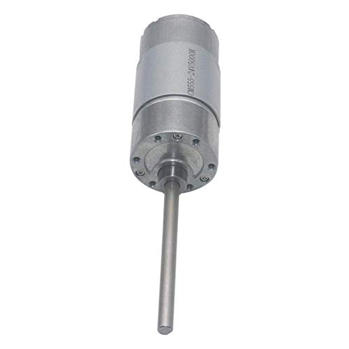 L-YINGZON Motor Mechanical Parts, DC 12/24V Micro Gear Reduction Motor 130RPM 75.5mm Extended Shaft Gear Motor Gearheads