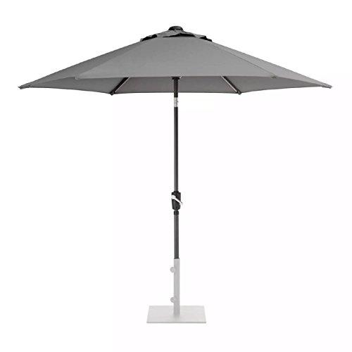 KETTLER 3.0m Wind Up Parasol with tilt Grey frame and Slate Canopy