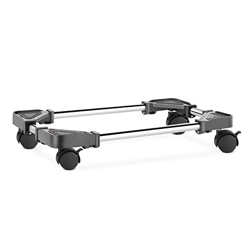 Liitrton Adjustable Computer CPU Stand Rolling Computer Tower Stand with Locking Wheels Under Home Office Desk (Black)