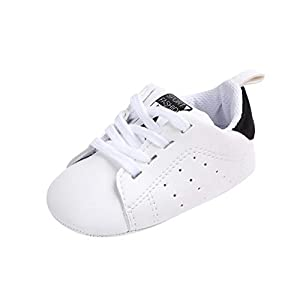 Gusspower Zapatos de Bebé Zapatillas Deportivas para bebés recién Nacidos Primeros Pasos Calzado de Cuero Antideslizante Suave para niños niñas pequeños Infantiles