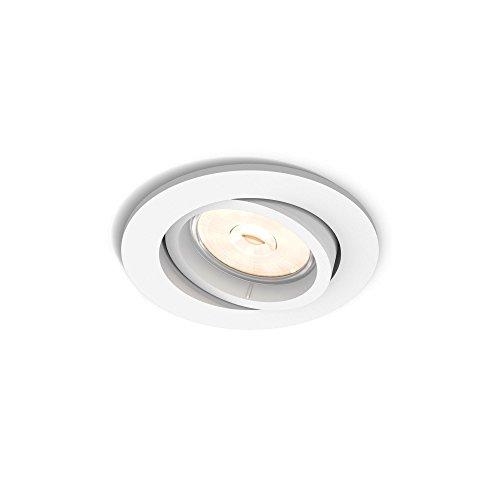Philips Lighting Enneper Faretto da Incasso, Attacco GU10, Bianco, Lampadina Non Inclusa