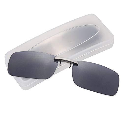 クリップオン サングラス 偏光サングラス クリップ UV400 夜間運転 偏光スポーツサングラス 偏光レンズ メガネの上からつけられる 付きサングラス 跳ね上げ 偏光クリップ眼鏡 紫外線カット 前掛けクリップ式サングラ ス 収納ケース付き 超軽量 (ブラッ