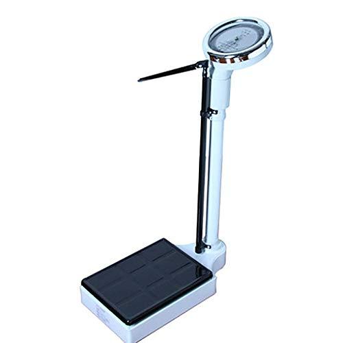 Báscula de altura y peso con varilla de altura, báscula mecánica digital de grasa corporal con varilla de altura de aleación de aluminio (70 ~ 190 cm), para uso en hospitales y farmacias de gimnasios