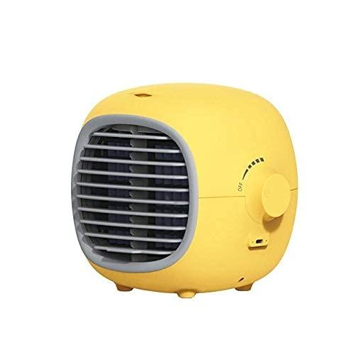 SKYEI Ventilador de nebulización Mini USB Recargable Batería Portátil Portátil Botella de Agua Agua Agua Azul (Color : Yellow)