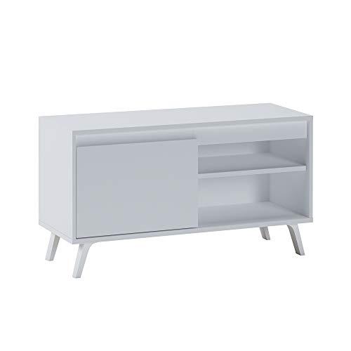 Selsey Mueble bajo para TV de 100 cm de Ancho, Color Blanco