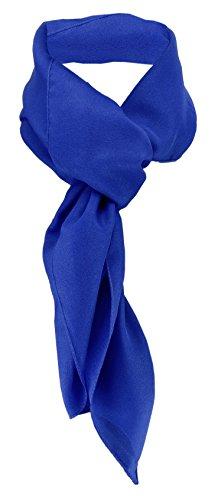 TigerTie Damen Chiffon Halstuch blau royalblau Uni Gr. 90 cm x 90 cm - Schal