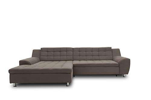 DOMO Collection Morton Ecksofa | Sofa in L-Form, Eckcouch Polstergarnitur, anthrazit, 304x200x84 cm