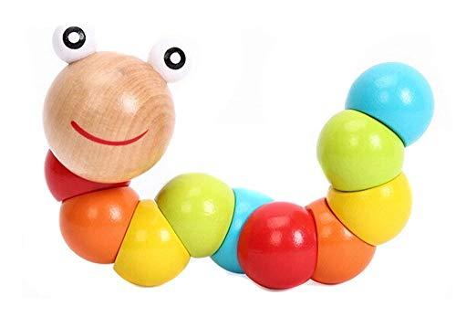 Fliyeong Premium Baby Kids verdrehen Insekt Holzspielzeug Kinder Tier Education Toys