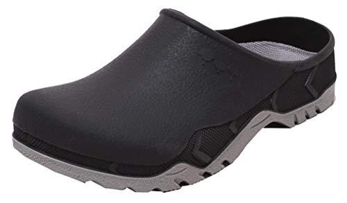 Dynamic24 Unisex Garden clogs schoenen Slipper Vrijetijdsclogs robuust met uitneembare inlegzool dubbele maat 41/42 en 43/44 antraciet grijs olijfgroen