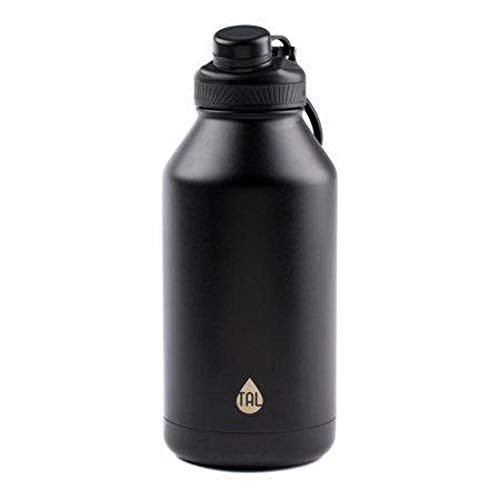 TAL Water Bottle Double Wall Insulated Stainless Steel Ranger Pro Tumbler 64oz, Black
