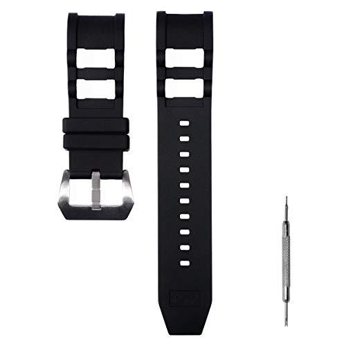 Senphyton for Invicta Russian Diver Watch Replacement Rubber Silicone Band/Strap - Black Invicta Watch Strap