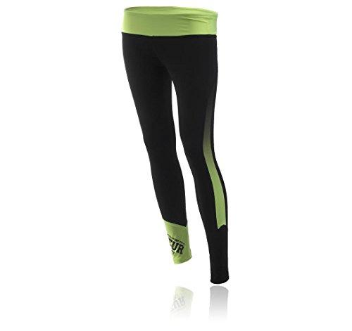 BOXEUR DES RUES Serie Fight Activewear BXT-1629, Leggings Donna, Nero, XL