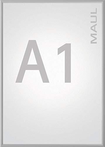Maul 6604108 Klapprahmen A1, Plakatrahmen Aluminium, 87,2 x 63 x 1,2 cm (HxBxT), 1 Stück