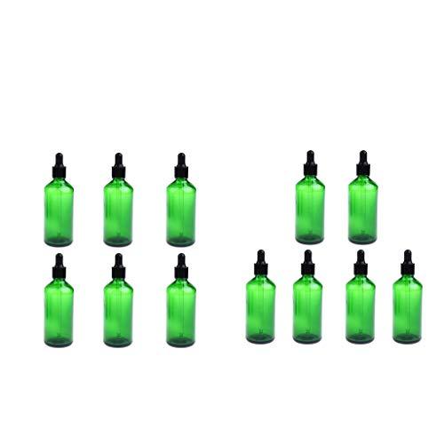 sharprepublic Flacon Compte-gouttes Pour Huiles Essentielles Vides 12 Pièces Aromathérapie Liquide 50ml Vert