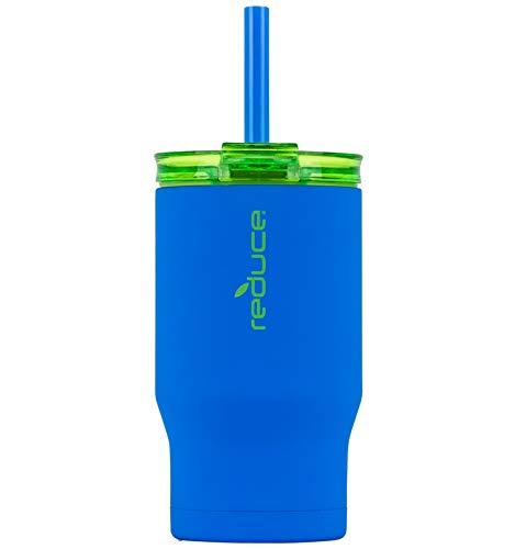 Reduce Tumbler – 14oz Coldee Stainless Steel Tumbler, Alien with Easy Grip Finish – Small Insulated Cup With Straw – Ideal for Kids Aged 2 Plus – Includes Clear Lid, Straw & 3-in-1 Lid