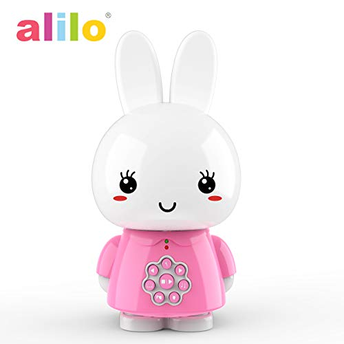 alilo Baby Sound Machine MP3 Player for Learning Toys 8GB with Voice Recorder Story Telling (Honey Bunny, Pink)