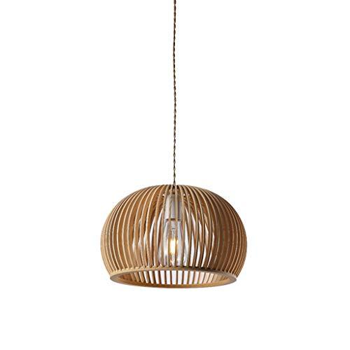 Lámpara de techo de madera maciza, lámpara de salón, lámpara de madera moderna.