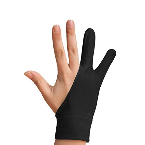 Artist Glove for Graphic Tablet, Art Creation and iPad Pro Pencil 2pcs Artist Drawing Glove Anti-Slip Glove Tablet Glove with Interactive Screen and Luminous Tablets