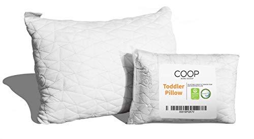 Coop Home Goods - Toddler Pillow (14x19) - Hypoallergenic Cross-Cut Memory Foam - Soft Touch Lulltra...