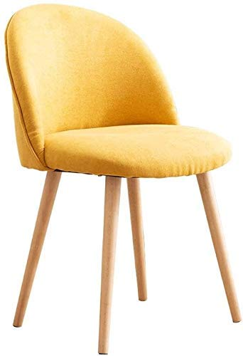 NUANYANG Dining Chair Chair Simple Student Desk and Chair Makeup Computer Stool Back Home Dining Chair (Color : Yellow)