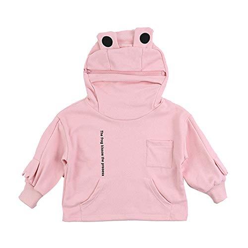 QKFON Sudadera con capucha en forma de rana con capucha para nios, cuello alto, con bolsillos, disfraz de animal, suter suelto de gran tamao para fiesta de Halloween