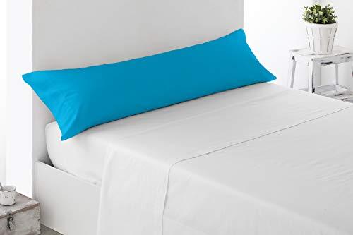 Miracle Home Housse de coussin douce et confortable en coton 50 % polyester Turquoise 135 cm